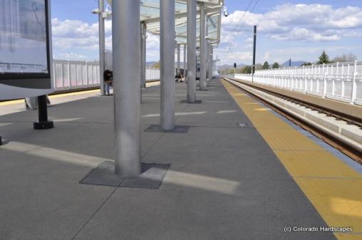 Sandscape finish on Wadsworth Station Platform