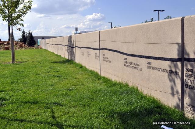Sandscape and sandblasted wall