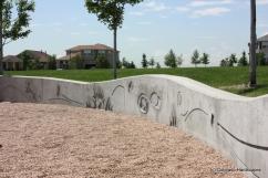 Custom uncolored concrete wall
