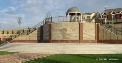 Custom formliner artistic concrete wall