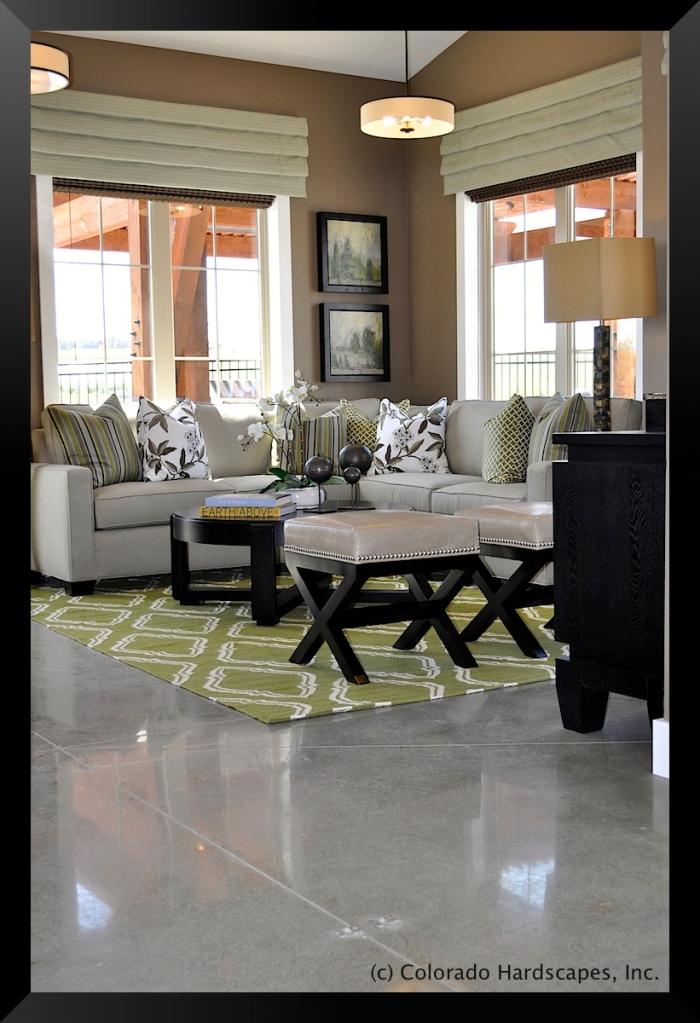 Bomanite polished concrete floors