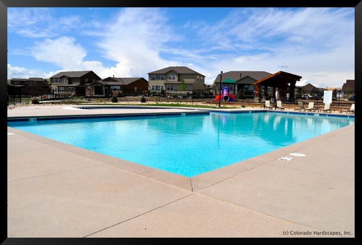 Sandscape pool deck