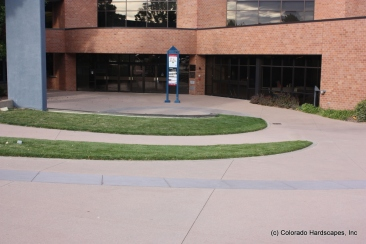 Decorative concrete entry at the Arvada Center