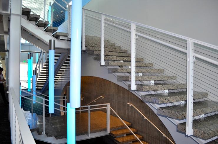 Denver Art Museum Administrative Office Building steps by Colorado Hardscapes