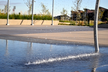 Water feature by Colorado Hardscapes