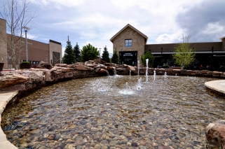 Water feature installed by Colorado Hardscapes