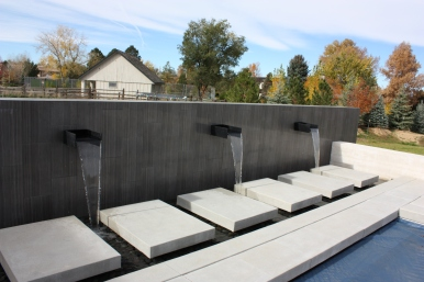 "The wall and the decorative concrete elements are considered ""hardscapes"""