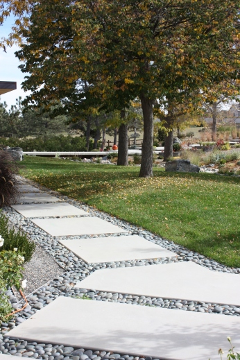 The hardscape elements help enhance the overall landscape