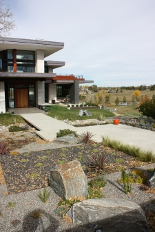 "The hard surfaces make up the ""hardscape"" portion of the Landscape"